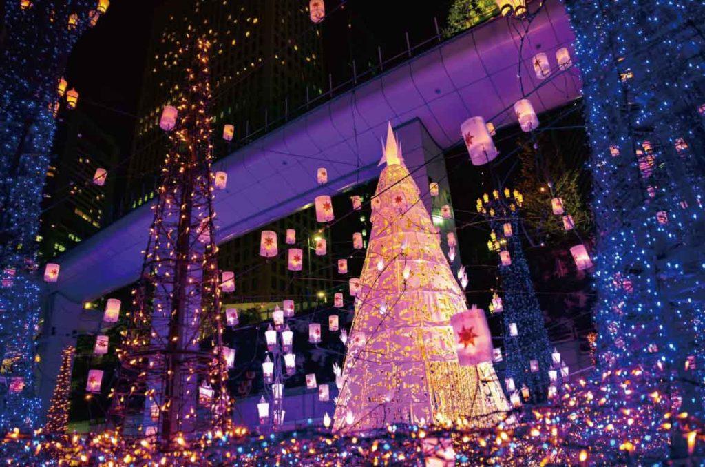 東京汐留聖誕燈飾