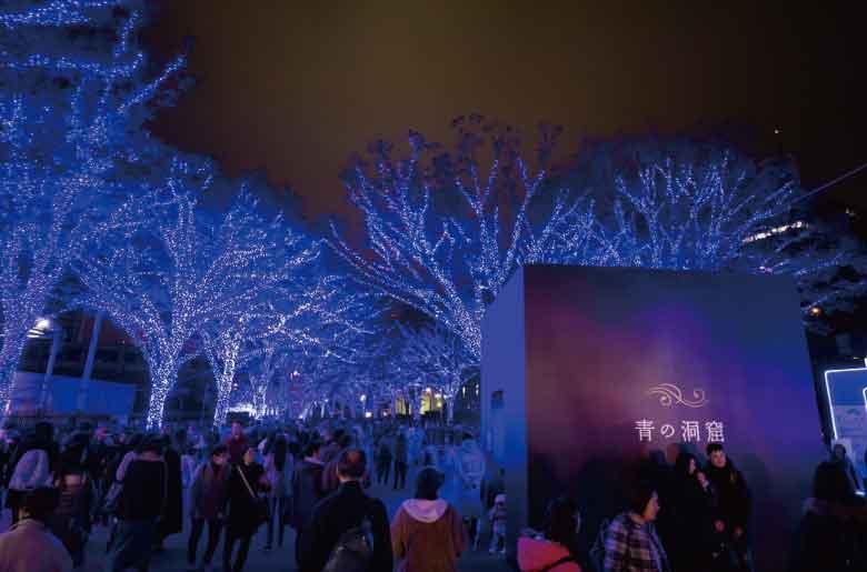東京聖誕燈飾 青之洞窟