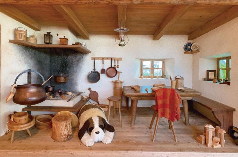 《阿爾卑斯山的少女》的房間場景