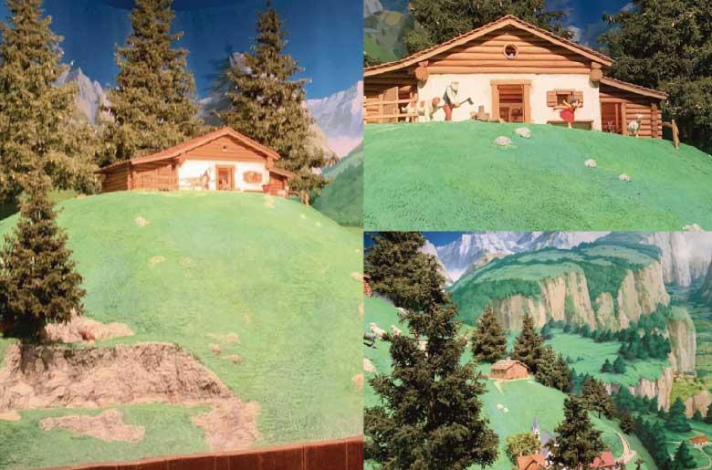 《阿爾卑斯山的少女》的場景模型
